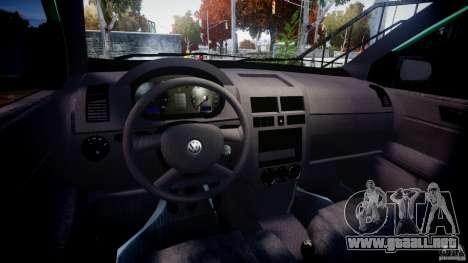 Volkswagen Polo 2.0 2005 para GTA 4 vista hacia atrás