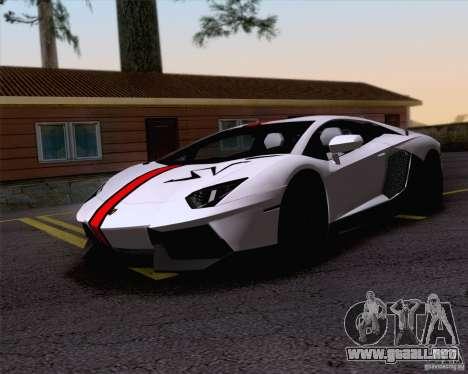 Trabajos de pintura Lamborghini Aventador LP700- para GTA San Andreas