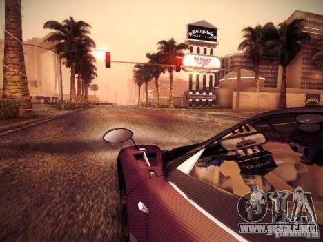 Pagani Zonda Tricolore 2010 para visión interna GTA San Andreas