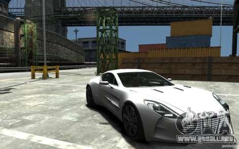 Aston Martin One 77 para GTA 4 vista hacia atrás