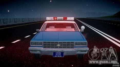 Chevrolet Impala Police 1983 v2.0 para GTA 4 vista desde abajo