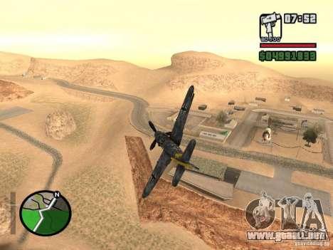 BF-109 G-16 para GTA San Andreas left