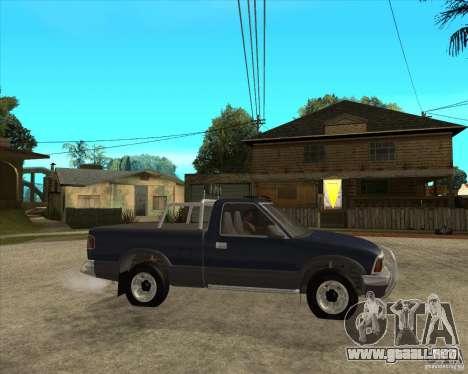 1996 Chevrolet Blazer pickup para la visión correcta GTA San Andreas