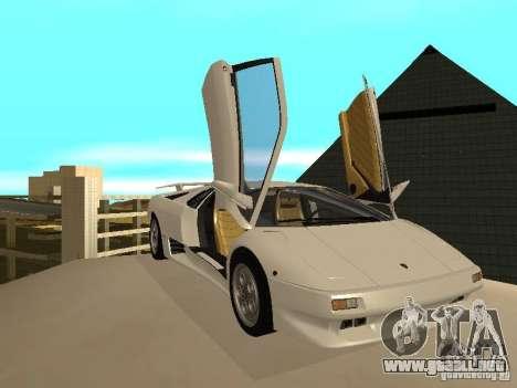 Lamborghini Diablo VT 1995 V2.0 para visión interna GTA San Andreas