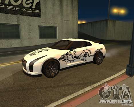 Nissan GT-R Pronto para GTA San Andreas vista hacia atrás
