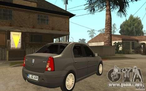 Dacia Logan Prestige 1.6 16v para la visión correcta GTA San Andreas