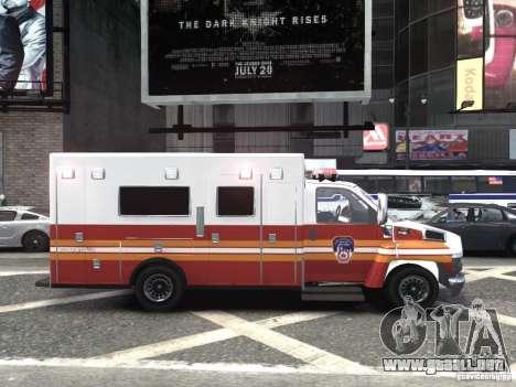 GMC C4500 Ambulance [ELS] para GTA 4 visión correcta
