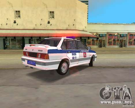 VAZ 2115 DPS para GTA Vice City left