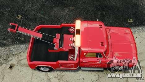 Chevrolet C20 Towtruck 1966 para GTA 4 visión correcta
