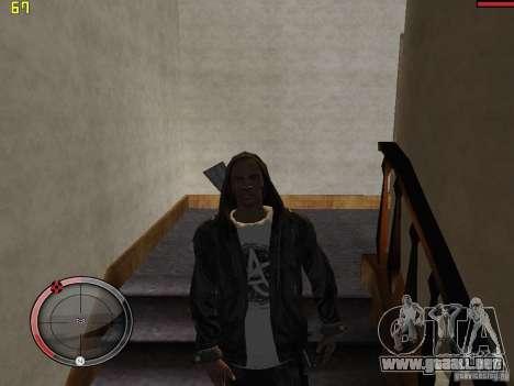 Walk style para GTA San Andreas quinta pantalla