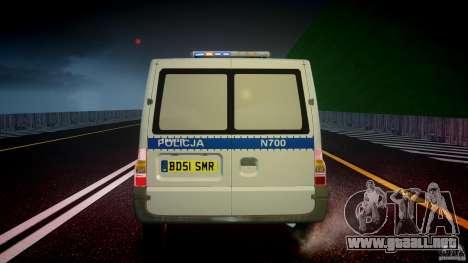 Ford Transit Polish Police [ELS] para GTA 4 vista desde abajo