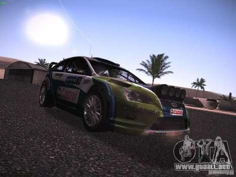 Ford Focus RS WRC 2006 para la visión correcta GTA San Andreas