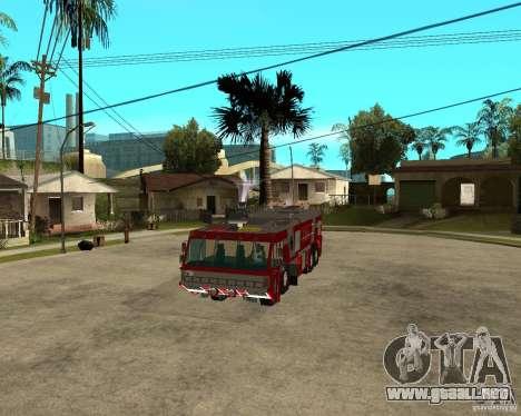 Rosenbauer Simba 8x8 GFLF FDSA para GTA San Andreas vista hacia atrás
