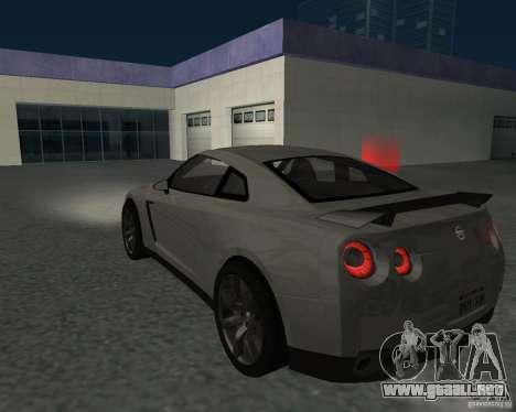 Nissan GT-R Pronto para GTA San Andreas left