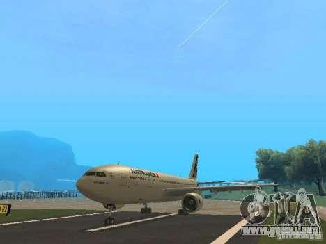 Airbus A300-600 Air France para GTA San Andreas left