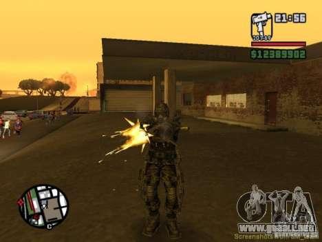 Acosador militar en èkzoskelete para GTA San Andreas quinta pantalla