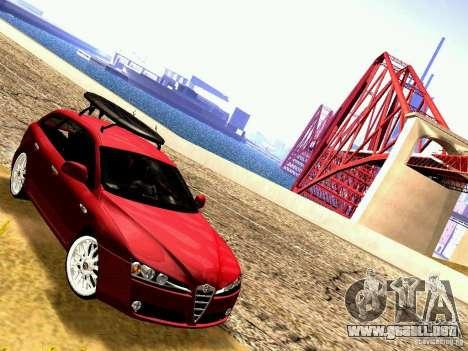 Alfa Romeo 159 Sportwagon para GTA San Andreas vista posterior izquierda