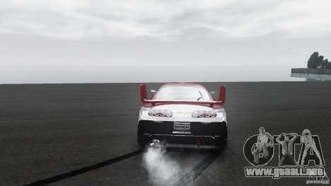 Toyota Supra Apexi Race System para GTA 4 vista hacia atrás