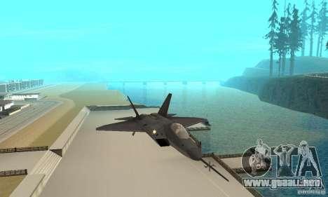 YF-22 Black para visión interna GTA San Andreas