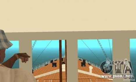 RMS Titanic para la vista superior GTA San Andreas