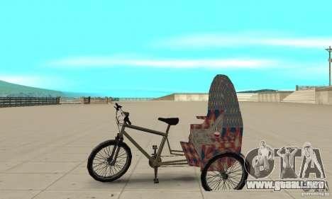 Manual Rickshaw v2 Skin5 para GTA San Andreas left