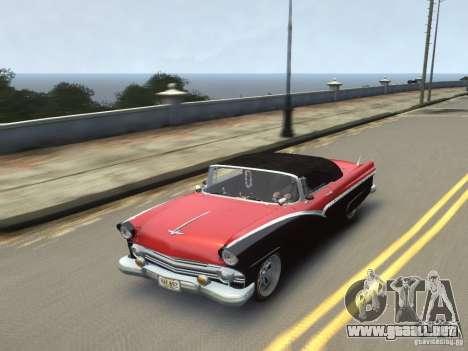 Ford Sunliner Custom 1956 para GTA 4 vista lateral