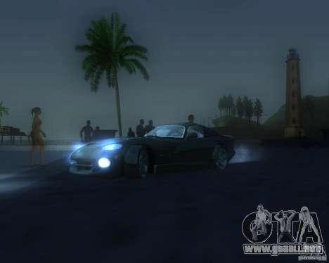 Modificación gráfica global para GTA San Andreas octavo de pantalla