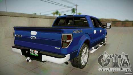 Ford Lobo Lariat Ecoboost 2013 para GTA San Andreas vista posterior izquierda