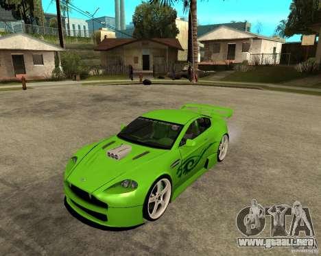 Aston Martin Vantage V8 - Green SHARK TUNING! para GTA San Andreas
