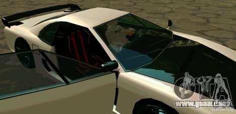 New Turismo para la vista superior GTA San Andreas