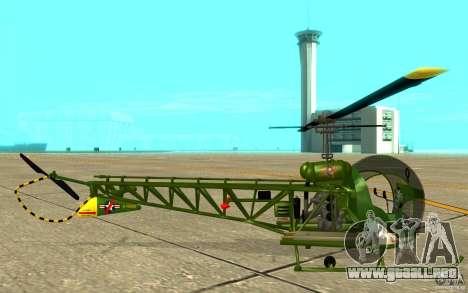 Bell H13 para GTA San Andreas vista posterior izquierda