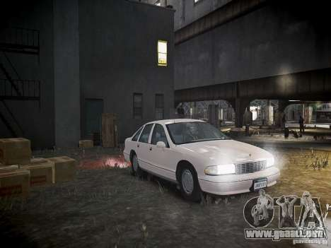 Chevrolet Caprice 1993 Rims 1 para GTA 4 vista lateral