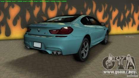 BMW M6 2013 para GTA Vice City vista lateral izquierdo