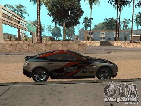 Aston Martin v8 Vantage n400 para GTA San Andreas vista hacia atrás