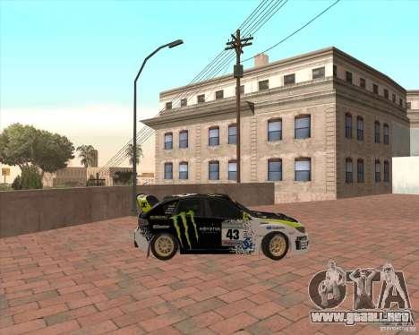 Subaru Impreza Ken Block para GTA San Andreas left