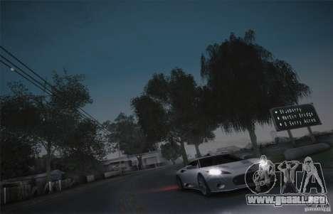 Spyker C8 Aileron para visión interna GTA San Andreas