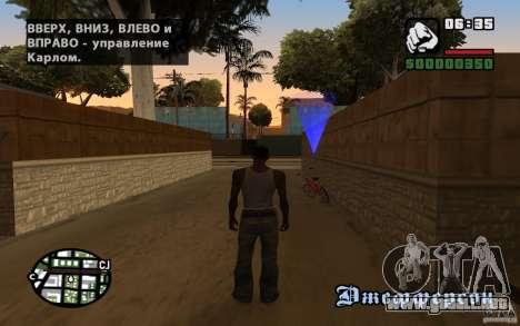 Localización del equipo de SanLtd para GTA San Andreas sucesivamente de pantalla