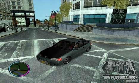 Honda CRX Tuned para GTA San Andreas vista hacia atrás