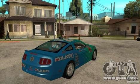 Ford Mustang GT Falken para la visión correcta GTA San Andreas