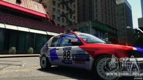 Peugeot 205 Rally para GTA 4 visión correcta