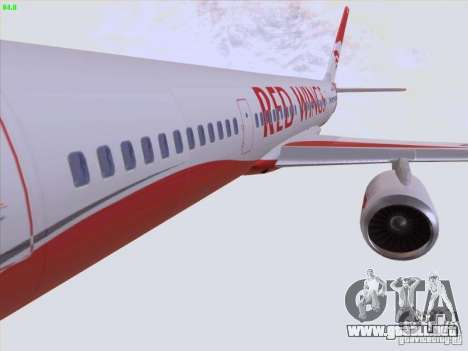 Tupolev Tu-204 Red Wings Airlines para vista inferior GTA San Andreas