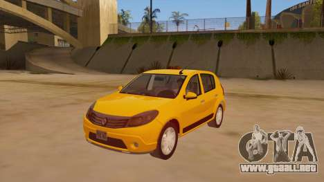 Renault Sandero Taxi para GTA San Andreas