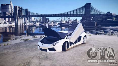 Lamborghini Aventador LP700-4 v1.0 para GTA 4 vista hacia atrás