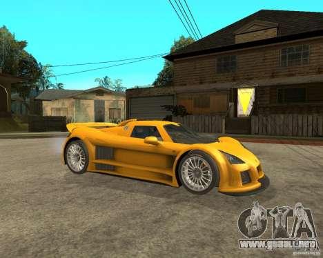 Gumpert Appolo para la visión correcta GTA San Andreas