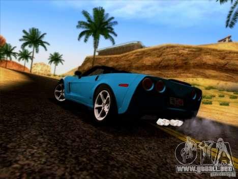 Chevrolet Corvette C6 Convertible 2010 para GTA San Andreas vista posterior izquierda
