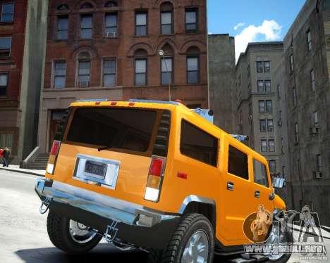 Hummer H2 2010 Limited Edition para GTA 4 Vista posterior izquierda