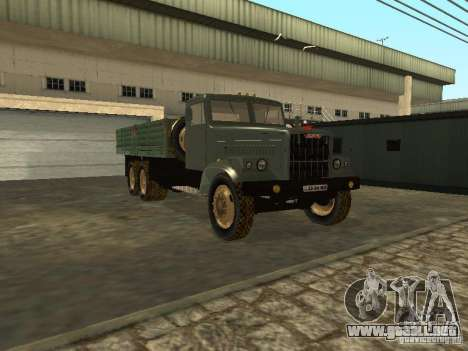 Remolque de camión KrAZ v. 2 para GTA San Andreas vista hacia atrás