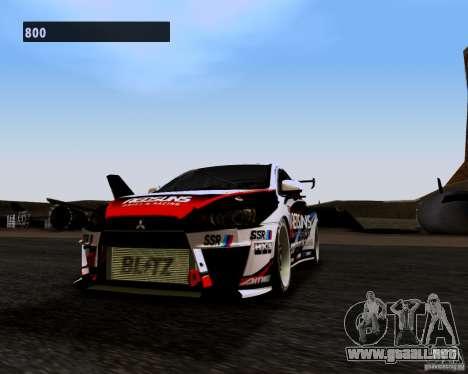 Mitsubishi Lancer Evo X 2008 para GTA San Andreas left
