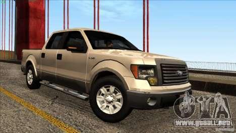 Ford F150 XLT SuperCrew 2010 para la visión correcta GTA San Andreas