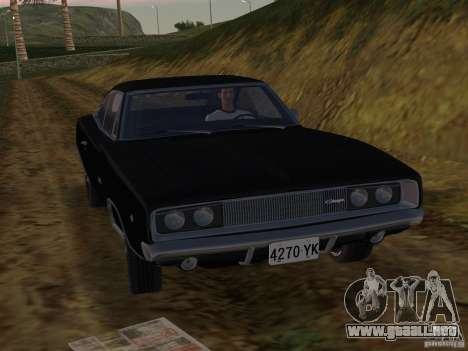 Dodge Charger 426 R/T 1968 v2.0 para GTA Vice City left